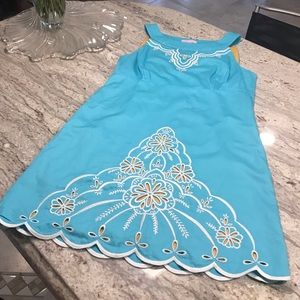 TODAY ONLY Lilly Pulitzer Aqua Dress Size 2